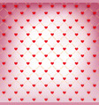 valentines day wrapping paper with red hearts vector image vector image