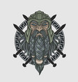 Warrior long beard head