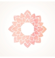 Watercolor pink frame with lotus flower pattern vector image