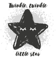 with cartoon handdrawn star vector image vector image