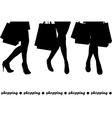 Women holding shopping bags vector image vector image