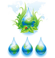 world droplet vector image