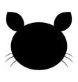 cat head the black color icon vector image