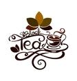 Lettering - Black Tea vector image