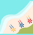 a banner with an landscape beach vector image vector image