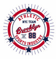 athletic nyc team brooklyn vector image vector image