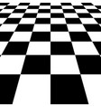 black white squares checkered board background vector image vector image