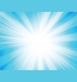blue rays background vector image vector image