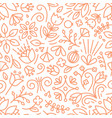 botanical seamless pattern with lush vegetation of vector image