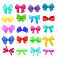 bow cartoon bowknot or ribbon vector image
