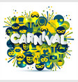 bright carnival and sign carnival vector image vector image