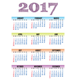 calendar 2017 vector image