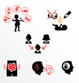 Causes of allergies as flat icons vector image