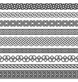 celtic semaless border pattern collection vector image vector image