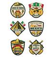 cinco de mayo mexican fiesta holiday sketch icons vector image vector image