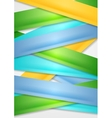 Colorful stripes abstract background vector image vector image