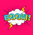 comic cartoon explosions vector image vector image