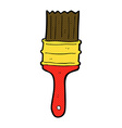 comic cartoon paint brush vector image