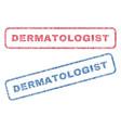 dermatologist textile stamps vector image vector image