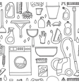 doodle pattern of cleaning tools vector image vector image