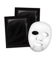 facial mask black cosmetics package vector image vector image