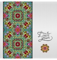 floral geometric background vintage ornamental vector image