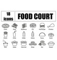 food court set of icons line delivery of vector image vector image