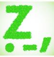 grass letter Z vector image