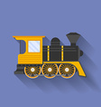 Icon of Steam Locomotive or Puffer Flat style vector image