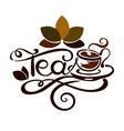 Lettering - word Tea vector image