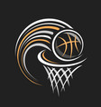 logo for basketball vector image