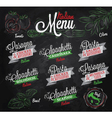 menu italian chalk color vector image