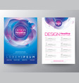 modern abstract fluid purple blue circle shape vector image vector image
