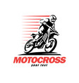 motocross stylized symbol design elements vector image vector image