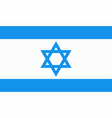 national flag of israel with star of david in blue vector image vector image