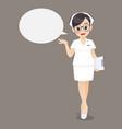 nurse speech vector image vector image