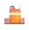 orange metal tank industrial factory storage vector image vector image