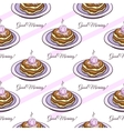 Pancakes Seamless Pattern vector image vector image