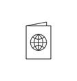 Passport document icon vector image vector image