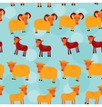 Ram ewe and lamb Set of funny animals with cubs vector image vector image