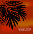 red palms sunset background vector image vector image
