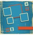 Retro Style Website Template design frame vector image vector image