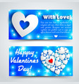 romantic amour horizontal banners vector image vector image