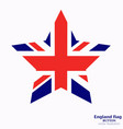 round banner with flag of england vector image