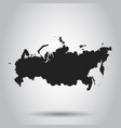 russia map icon flat russia sign symbol with vector image vector image