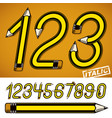 school theme pencils design numbers best for use vector image
