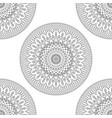 seamless background with floral mandalas vector image