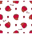 Seamless pattern with doodle heart shaped vector image vector image