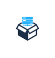 server box logo icon design vector image