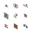 set 3d wireless icons vector image vector image